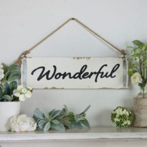 Wonderful Wood Plank Sign