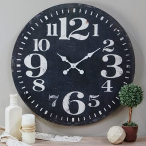 Rustic Black Wall Clock