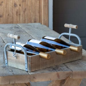 Wood Tray Wine Rack