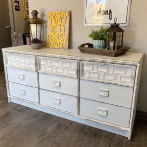 White Painted Dresser with Accesories