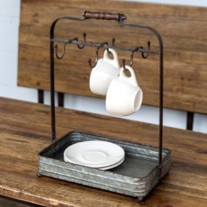 Industrial Cup and Saucer Caddy