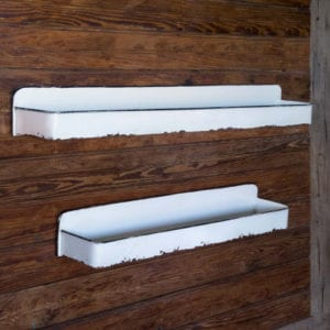 White Metal Wall Shelves