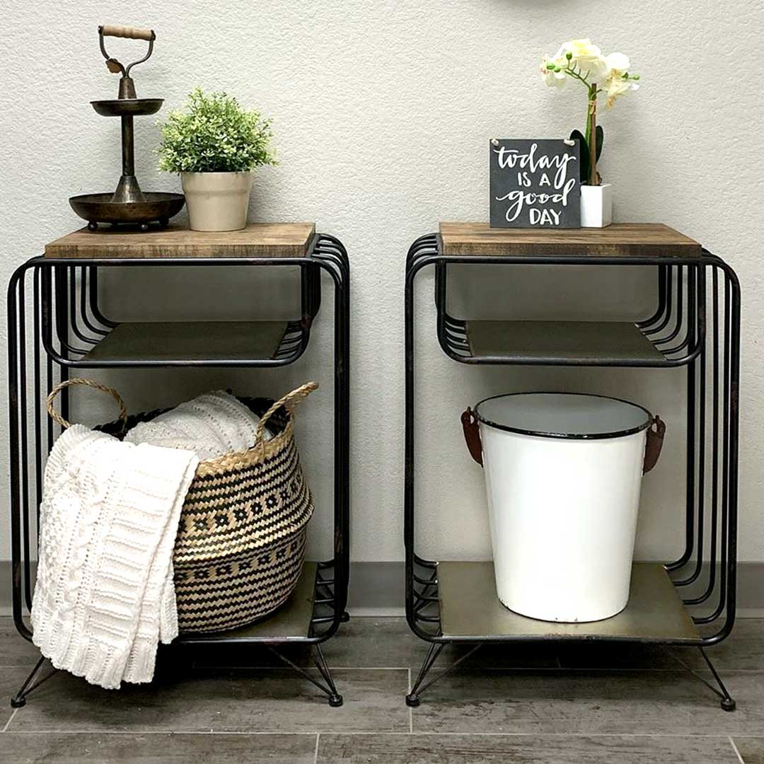 An Example of Furniture Near Me —A Pair of Night Stands with Accessories