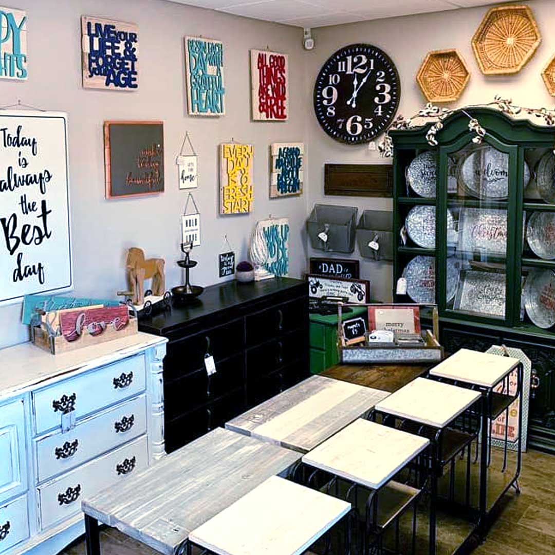 Interior of My Little Shop Furniture Showing a Selection of Products